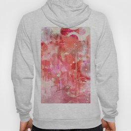 Modern contemporary pastel Blush and Peaches Abstract Hoody