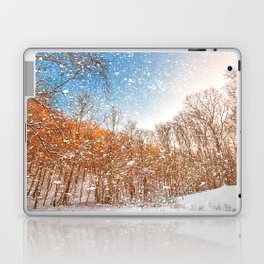 Snow Spattered Winter Forest Laptop & iPad Skin