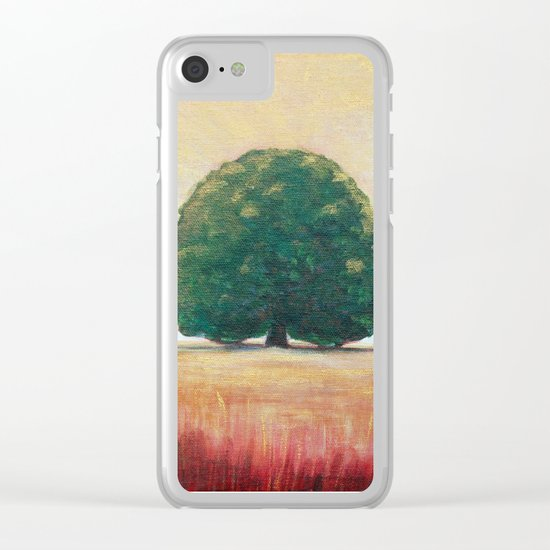 Lone Tree 2 Clear iPhone Case