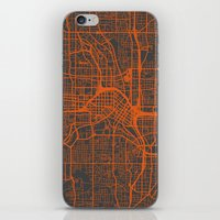 atlanta iPhone & iPod Skins featuring Atlanta map by Map Map Maps