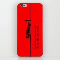 delorean iPhone & iPod Skins featuring DeLorean by Tony Vazquez