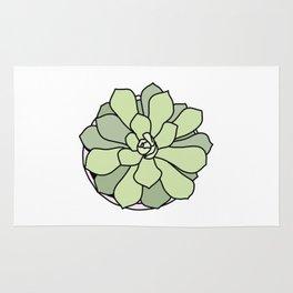 Green suculent Rug
