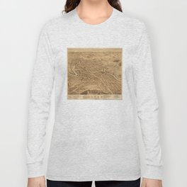 Vintage Pictorial Map of Dover NH (1877) Long Sleeve T-shirt