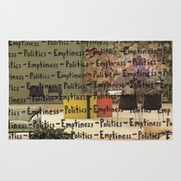 politics Area & Throw Rugs featuring Politics Emptiness by Neil Campau