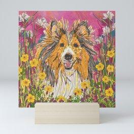 Sweet Summer Sheltie Mini Art Print