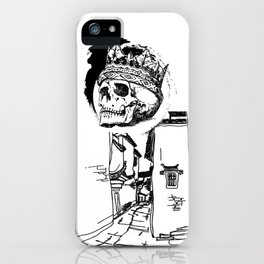 King Skeleton iPhone Case