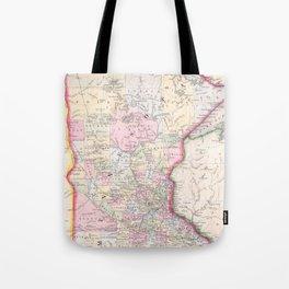 Vintage Map of Minnesota (1864) Tote Bag