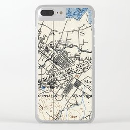 Vintage Map of Palo Alto California (1899) Clear iPhone Case