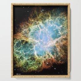 Hubble Telescope: Crab Nebula Serving Tray