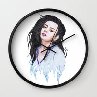 charli xcx Wall Clocks featuring Charli XCX Slime by firemylions
