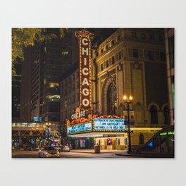 Balaban and Katz Chicago Theatre Canvas Print