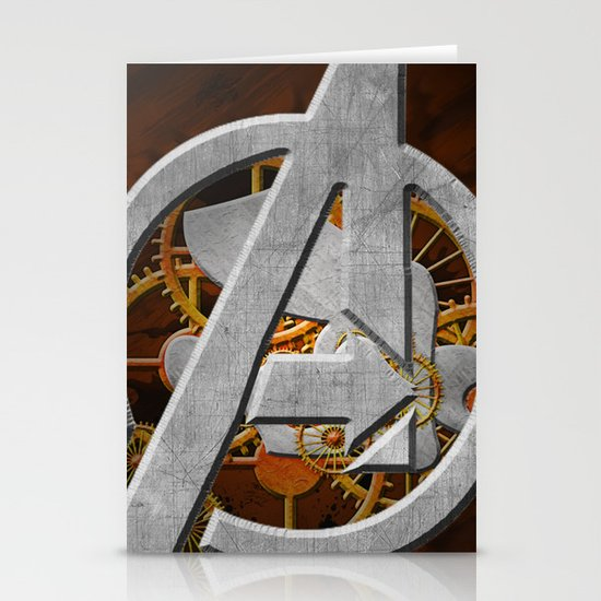 Avengers Steampunk Stationery Cards
