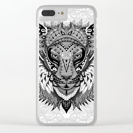 lion aztec art pattern iPhone 4 4s 5 5c 6 7, pillow case, mugs and tshirt Clear iPhone Case