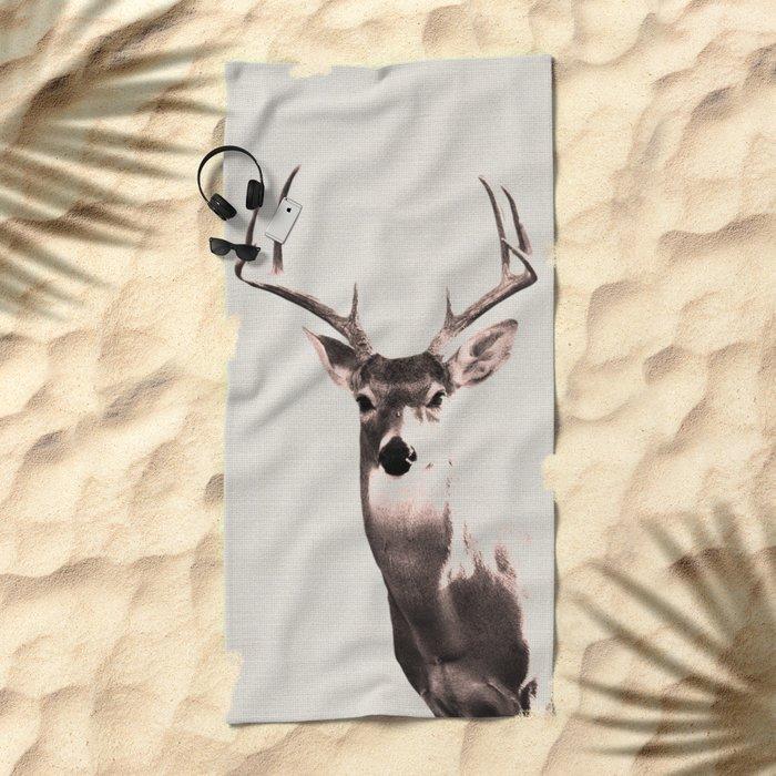 Deer Art 1 Beach Towel