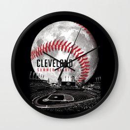 Cleveland Summer Nights Wall Clock