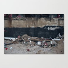 Under the Boardwalk, After Sandy Canvas Print
