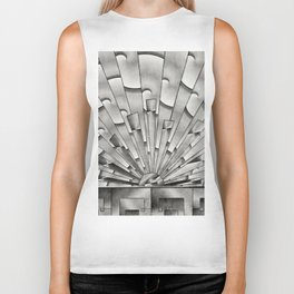 Mercury Glass Art Deco Sunburst Biker Tank