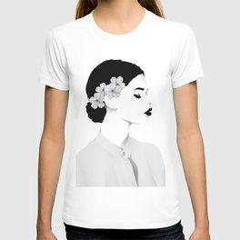 a lady (white shirt ) T-shirt