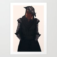 crow Art Prints featuring Crow by audelade