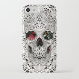 Lace Skull Light iPhone Case
