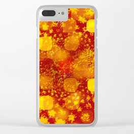 Abstract Yellows and Golds Clear iPhone Case