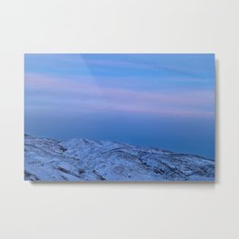 Snowy Mountain Climb Metal Print