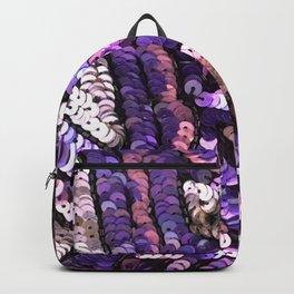 Pink Lavender Silver Black Sequin Backpack