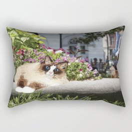Sunning in Wright Square Rectangular Pillow