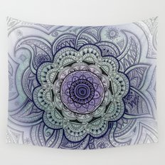 Mandala Purple  Wall Tapestry