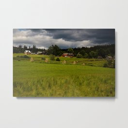 Cottages Metal Print