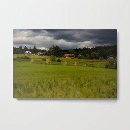 Cottages Metal Print