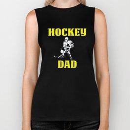 Design For Hockey Dad Biker Tank