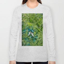 Goldfish on colorful background Long Sleeve T-shirt