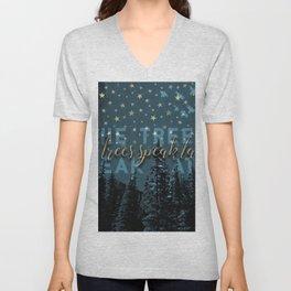The trees speak latin Unisex V-Neck