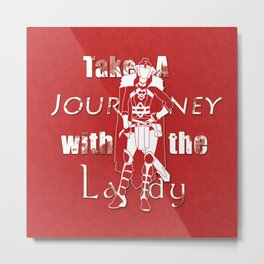 Take A Journey With The Lady Metal Print
