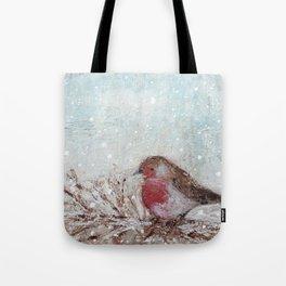 Winter Robin Tote Bag