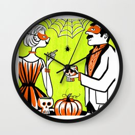 The Swankiest Halloween Party Wall Clock
