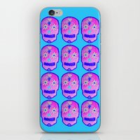 sugar skulls iPhone & iPod Skins featuring Sugar Skulls by Bex Parker