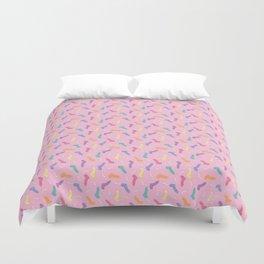 Random Dicks in Pink Duvet Cover