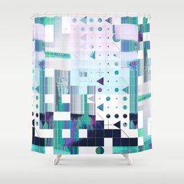 glytchwwt Shower Curtain