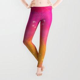 Pink-yellow pattern Leggings