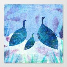 Blue family Canvas Print