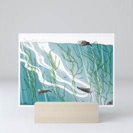 Otters Love Life Mini Art Print