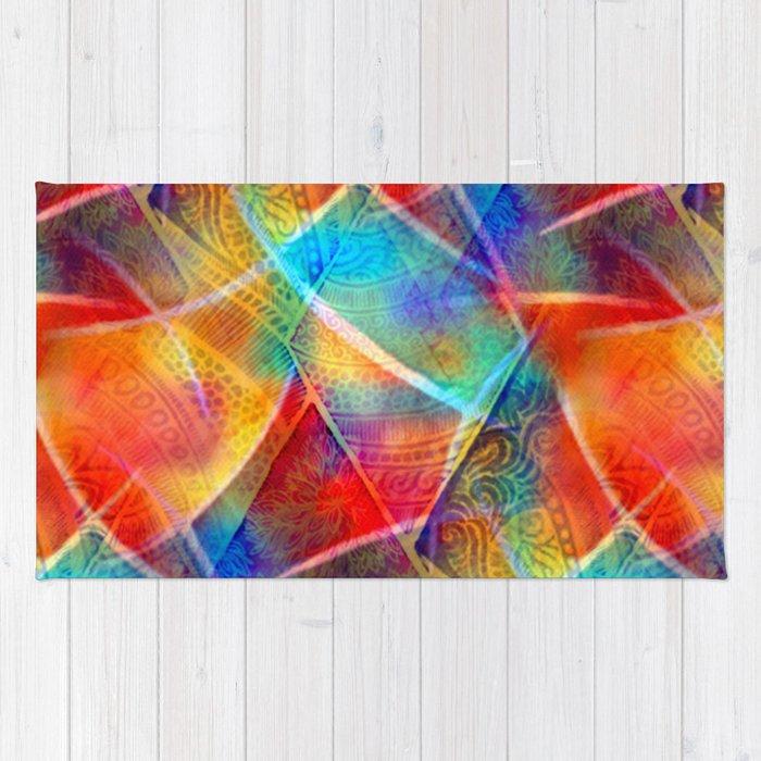 Boho Rainbow Rug