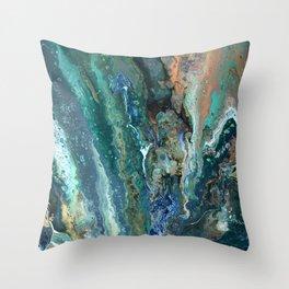 Green Terrain Throw Pillow