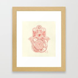 Indie Hamsa Framed Art Print