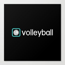 Volleyball (Blue) Canvas Print