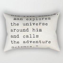 Edwin Hubble quote Rectangular Pillow