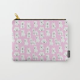 Westies on pink Carry-All Pouch