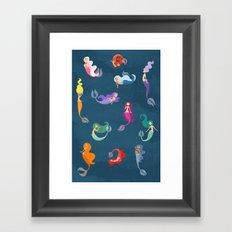 Many Mermaids Framed Art Print